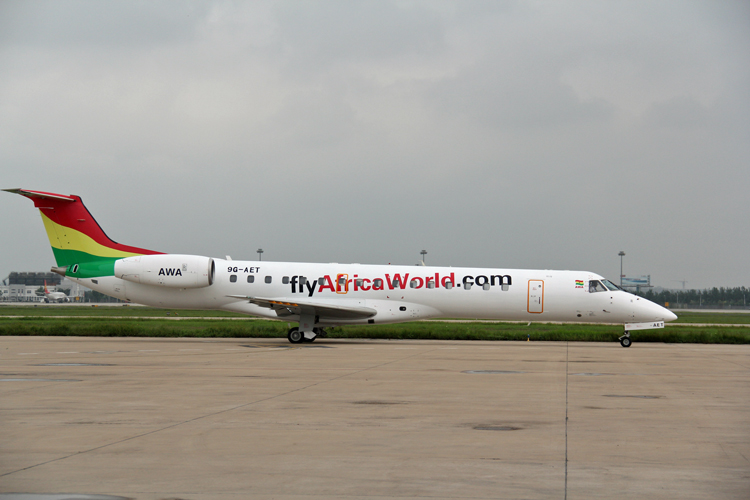 A FlyAfricaWorld.com Embraer aircraft