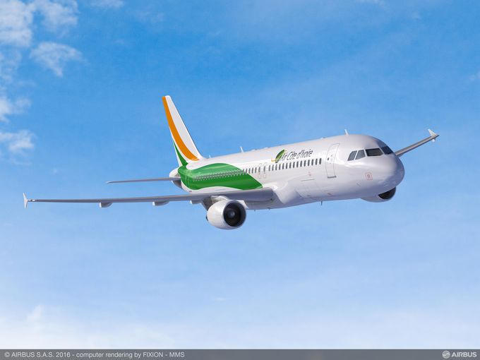 A320 Cote d'Ivoire Airbus in flight