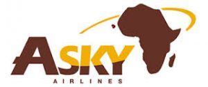 The official Asky Airlines logo 2017