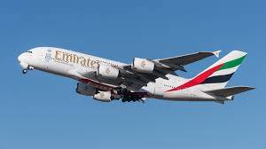 A Fly Emirates Jet in flight