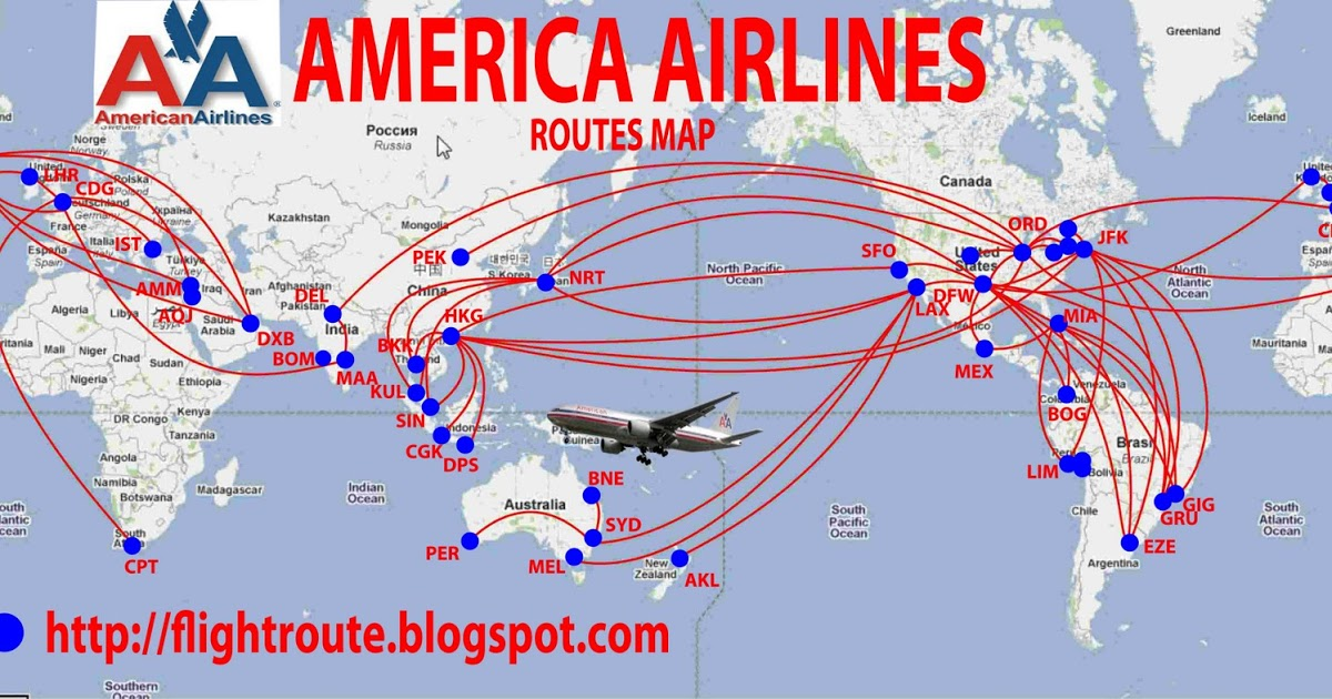 American Airlines 2017 Route Map