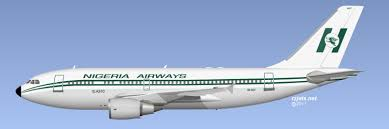 A Nigerian Airways jet in flight.